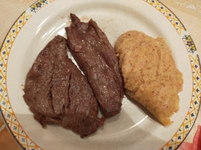 carne e polenta gialla