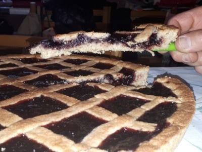 fetta crostata mirtilli